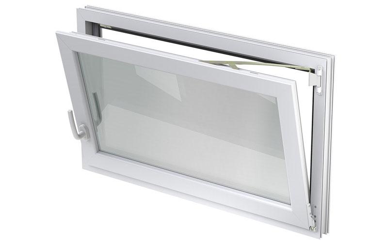 ACO 50x50cm Nebenraumfenster Fenster Kippfenster braun Kellerfenster Einfachglas